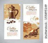banner set of vintage coffee... | Shutterstock .eps vector #155895149