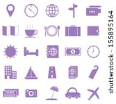 travel color icons on white... | Shutterstock .eps vector #155895164