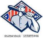 illustration of a american... | Shutterstock .eps vector #155895446