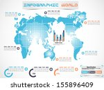 infographic world modern... | Shutterstock .eps vector #155896409