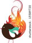 bird abstract design   Shutterstock .eps vector #15589720