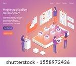 3d isometric mobile application ...   Shutterstock .eps vector #1558972436