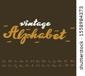 hand drawn calligraphy typeface ... | Shutterstock .eps vector #1558984373
