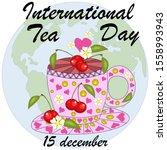 international tea day in... | Shutterstock .eps vector #1558993943