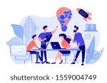 business team brainstorm idea... | Shutterstock .eps vector #1559004749