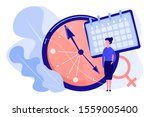 menopause woman standing at her ... | Shutterstock .eps vector #1559005400