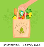 eco fabric cloth bag full of... | Shutterstock .eps vector #1559021666