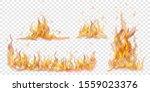 set of translucent burning...   Shutterstock .eps vector #1559023376