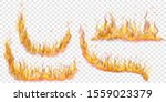 set of translucent fire flames... | Shutterstock .eps vector #1559023379