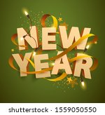 new year greeting card. 3d... | Shutterstock .eps vector #1559050550
