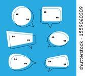 vector dialog box bubble set... | Shutterstock .eps vector #1559060309