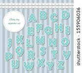baby boy abc letters. can be... | Shutterstock .eps vector #155906036
