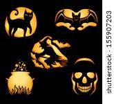 set of original shapes for jack ... | Shutterstock .eps vector #155907203