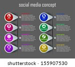 social media concept | Shutterstock .eps vector #155907530