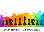 chess colorful figures pieces... | Shutterstock . vector #1559083013