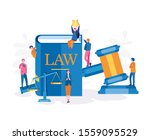 law and justice   judge gavel.... | Shutterstock .eps vector #1559095529