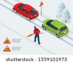 isometric slippery  ice  winter ...   Shutterstock .eps vector #1559101973