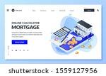 online app for mortgage rate...   Shutterstock .eps vector #1559127956