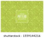 seamless pattern green leaves.... | Shutterstock .eps vector #1559144216