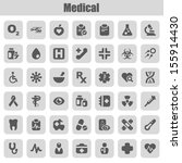 set of icons for medicine | Shutterstock .eps vector #155914430