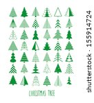 Set Of 42 Christmas Trees
