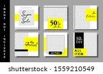set of social media post...   Shutterstock .eps vector #1559210549