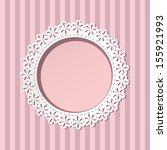 elegant floral paper cut frame...   Shutterstock .eps vector #155921993