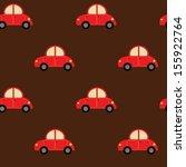 seamless cute car pattern | Shutterstock .eps vector #155922764