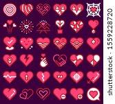 love icons vector. heart shape...