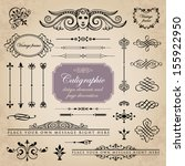 calligraphic design elements... | Shutterstock .eps vector #155922950