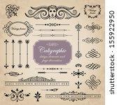 calligraphic design elements...   Shutterstock .eps vector #155922950