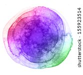 watercolor hand painted circle...   Shutterstock . vector #155923514