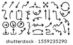 sketch arrow vector set. hand... | Shutterstock .eps vector #1559235290