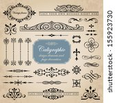 calligraphic design elements... | Shutterstock .eps vector #155923730
