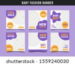 baby kids fashion sale square... | Shutterstock .eps vector #1559240030