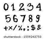 set of doodle number vector.... | Shutterstock .eps vector #1559243753