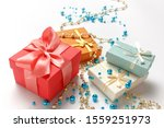 christmas gifts  shiny  glossy...   Shutterstock . vector #1559251973