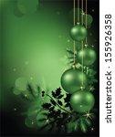 green christmas background | Shutterstock .eps vector #155926358