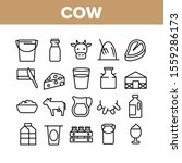 cow farming animal collection... | Shutterstock .eps vector #1559286173
