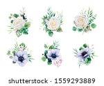 floral romantic bouquets for... | Shutterstock .eps vector #1559293889