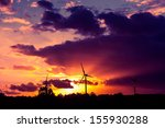 an image of wind turbines at... | Shutterstock . vector #155930288
