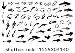 handdrawn arrows set. grunge... | Shutterstock .eps vector #1559304140