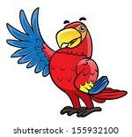 parrot bird | Shutterstock .eps vector #155932100