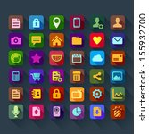 colorful flat design icons for... | Shutterstock .eps vector #155932700