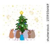 Cute Funny Little Cartoon Mice...