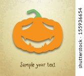 halloween greeting card with... | Shutterstock .eps vector #155936654