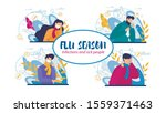 infections and flu season set... | Shutterstock .eps vector #1559371463