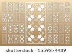 laser cut vector panels  ratio... | Shutterstock .eps vector #1559374439