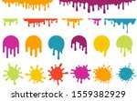 color dripping paint. vector... | Shutterstock .eps vector #1559382929