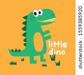 cute dinosaur vector drawing...   Shutterstock .eps vector #1559385920